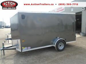 SALE PRICE ONLY - 2017 HAULIN 6X13 ENCLOSED TRAILER -SCREWLESS