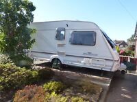 For sale Abbey Harlech 2000 2 berth caravan with caravanning accessories