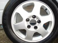 4 VAUXHALL ALLOY WHEELS TYRES 6JX15.ET43.5X110.5L.ASTRA. ZAFRA A MERIVA A. COMBO. AND OTHER vauxhall