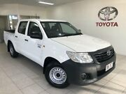2013 Toyota Hilux TGN16R MY12 Workmate White 5 Speed Manual Dual Cab Pick-up Bungalow Cairns City Preview