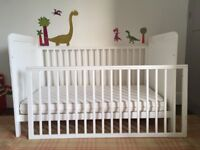 John Lewis Alex Cot Bed plus Luxury Mattress