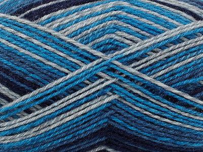 - PATONS KROY SINGIN' THE BLUES (TURQUOISE & BLUES) STRIPED SOCK YARN -166 YDS