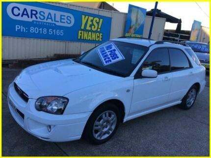 2004 Subaru Impreza S MY04 GX AWD White 4 Speed Automatic Hatchback