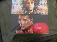 Ail & marley together what a pare signed pics by the artist