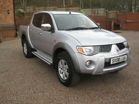 2008 08 Mitsubishi L200 2.5DI-D 4WD Double Cab Pickup Warrior Sivler Metallic