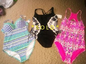 ✪ 3 BRAND NEW WOMENS BATHING SUITS SZ L / 8 / 10 $60 EACH ✪