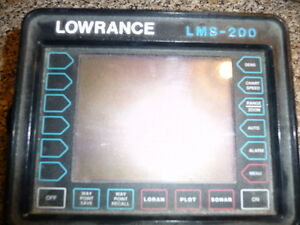 Lowrance LMS 2000 fishfinder/ GPS, unit only no extra parts