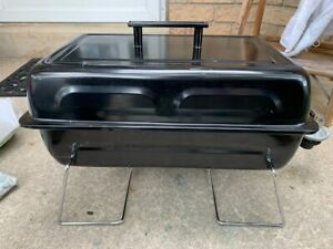 Portable Steel Gas Barbecue + 3 Propane Tanks USED ONCE