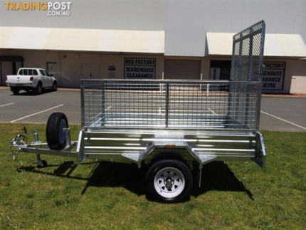 6x4 GALVANISED HOT DIPPED SINGLE AXLE BOX TRAILER (NEW) WITH 600m