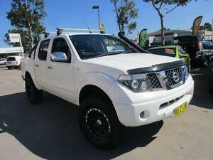 2007 Nissan Navara D40 ST-X White 6 Speed Manual 4D UTILITY North Parramatta Parramatta Area Preview