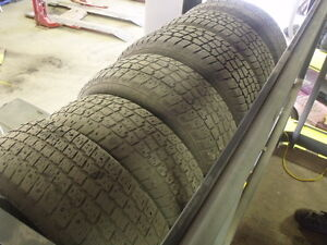 6 CORE RACING RIMS WITH STUDDED WINTER TIRES