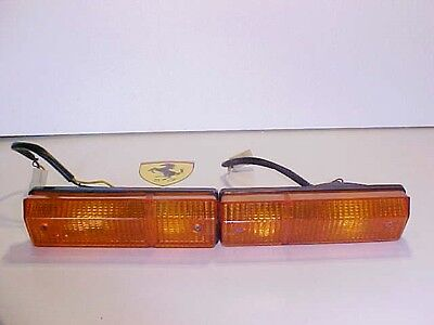 Ferrari 308 Front Directional Turn Signal Lights Lamps Carello Pair OEM