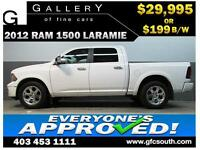2012 DODGE RAM LARAMIE CREW *EVERYONE APPROVED* $0 DOWN $199/BW
