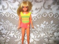 "9.25""LONG BLONDE HAIR SUN SET SKIPPER JAPAN 71 DOLL,FLUFF SUIT"