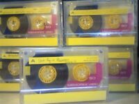MEMOREX DBS1 / DBSI 90 (1989-1990) YELLOW ISSUE CASSETTE TAPES.