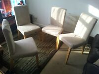 Butterfly extendable table and 4 dining chairs for sale