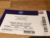 Kaiser Chief O2 London - Wednesday 1st 2 GREAT SEATS
