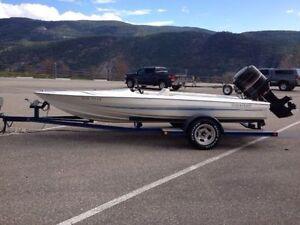 16' Sidewinder Speedboat w/ 115hp Merc & Trailer