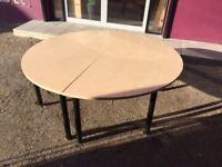 2m light ash circular boardroom table in good condition