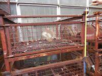 stillages steel front door stackable logs ect