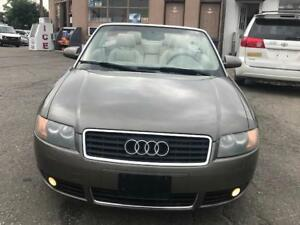 2003 Audi A4 1.8T, convertible ,PL,PW, AC,ALLOYS CERTIFIED