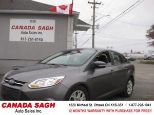 2014 Ford Focus, AUTO, 121K, CLEAN CARPROOF, 12 M WRTY+SAFETY