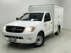2008 Toyota Hilux GGN15R MY08 SR White 5 Speed Manual Cab Chassis Edgewater Joondalup Area Preview