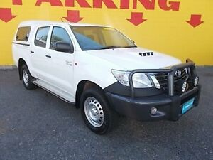 2014 Toyota Hilux KUN26R MY14 SR Double Cab White 5 Speed Manual Cab Chassis Winnellie Darwin City Preview