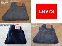 3 x Levi's Jeans (Stone Washed £35, Black £47 & Dark Navarro £35) Size W31xL32