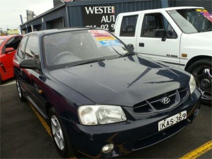 2001 Hyundai Accent LC GS Blue 5 Speed Manual Hatchback Colyton Penrith Area Preview