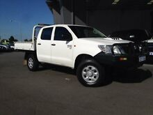 2011 Toyota Hilux KUN26R MY12 SR (4x4) Glacier White 5 Speed Manual Dual Cab Chassis Beckenham Gosnells Area Preview