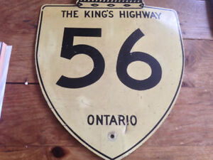 ORIGINAL VINTAGE CANADIAN 56 KINGS HIGHWAY ONTARIO ROAD SIGN Moose Jaw Regina Area image 3