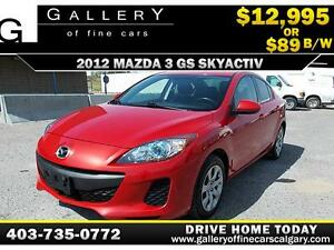 2012 Mazda3 GS-SKY SkyActiv $89 bi-weekly APPLY NOW DRIVE NOW