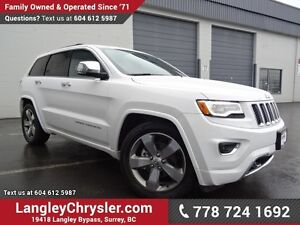 2016 Jeep Grand Cherokee Overland ACCIDENT FREE w/ 4X4, LEATH...