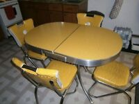 Vintage Original Yellow Table For Sale