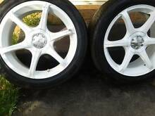 "18"" Tyres and Wheels WHITE Dandenong South Greater Dandenong Preview"