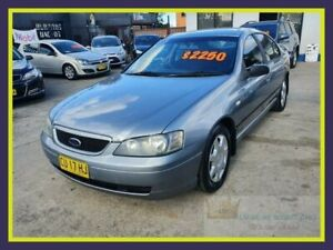 2004 Ford Falcon BA Futura Silver Sports Automatic Sedan Lansvale Liverpool Area Preview