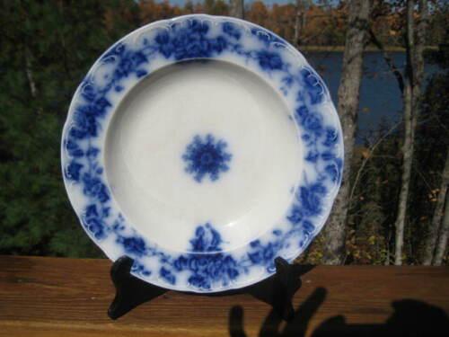 """ANTIQUE FLOW BLUE SERVING BOWL 10 1/2 """" DIAMETER STAFFORDSHIRE"""