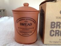 Henry Watson Pottery Bread Crock - as new and boxed