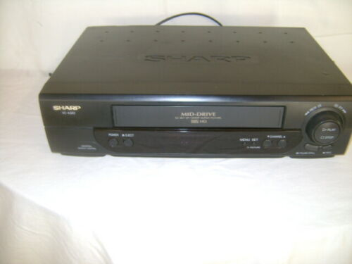 SHARP  VC-A382U  4 Head  Video Cassette Recorder Player Tested