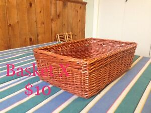 Various Wicker Baskets & Cases #4