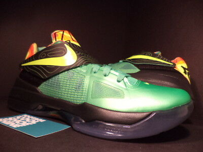 best loved 9393b ee9a2 Nike Zoom KEVIN DURANT KD IV 4 WEATHERMAN SAMPLE GREEN BLACK ORANGE  473679-303 9