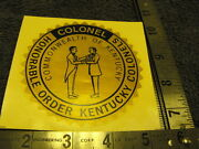 Honorable Order Kentucky Colonels