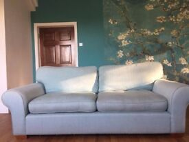Laura Ashley 3 Seater Sofa - Duck Egg Blue