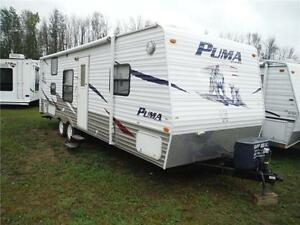 2008 Puma 27FQ Travel Trailer with Bunkbeds- Sleeps up to 9