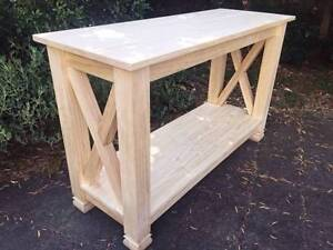 CUSTOM MADE   HAMPTONS STYLE   CONSOLE SIDE TABLE   PRE-PAINTED Cremorne North Sydney Area Preview