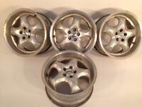 "RIAL 5x100 17"" 8J alloy wheels, deep dish, made in Germany, not borbet, ats, azev, bbs, at"