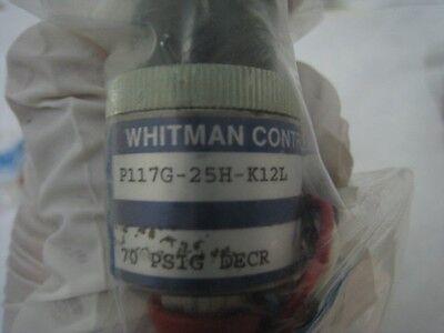 New Whitman P117G-25H-K12L, Pressure Switches, 70 PSI decreasing