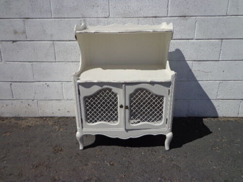 French Provincial Night Stand Neoclassical Nightstand Storage Bedside Table Chic