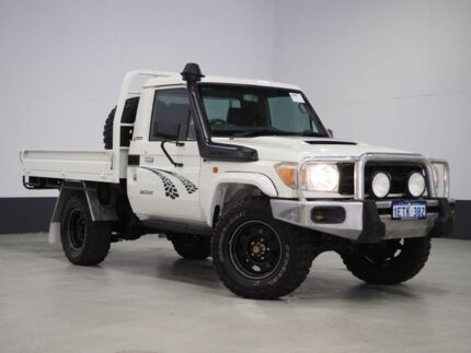 2010 Toyota Landcruiser VDJ79R 09 Upgrade Workmate (4x4) White 5 Speed Manual Cab Chassis Bentley Canning Area Preview